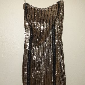 Celebrity Gold sequence dress